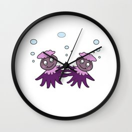 Dancing Octopus Wall Clock