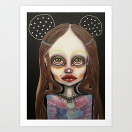 night mouse Art Print