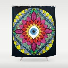 Colorful Eye of Horus Mandala Mosaic Abstract Shower Curtain