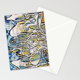 Magnetic Galactic Stationery Cards