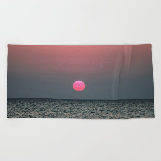 Sunset over the Pacific Beach Towel