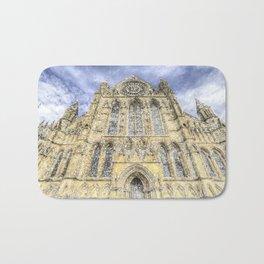 York Minster Cathedral Snow Art Bath Mat