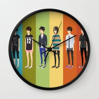 tegan and sara Wall Clocks featuring Tegan and Sara: Tegan collection by Cas.