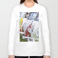 volkswagen Long Sleeve T-shirts featuring Old Volkswagen Splitty Buses by Premium