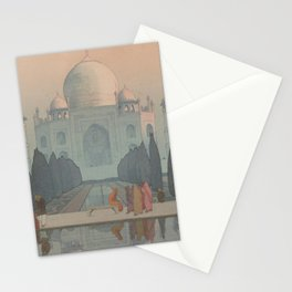 Morning Mist in Taj Mahal by Yoshida Hiroshi - Japanese Vintage Ukiyo-e Woodblock Painting Stationery Cards