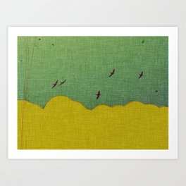 migratory thoughts Art Print