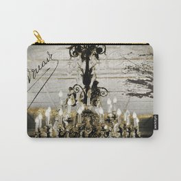 Crystal Chandelier Gold Vintage Carry-All Pouch