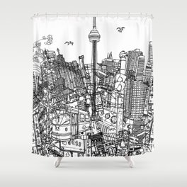 Toronto! (version #2) Shower Curtain