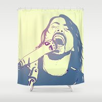 dave grohl Shower Curtains featuring Dave Grohl by Giuseppe Cristiano