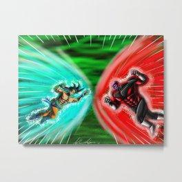 Ultra Instinct Goku X Jiren 2018 Metal Print