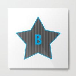 Initials | Star | B Metal Print