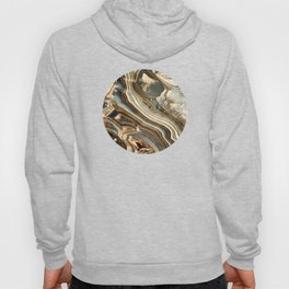 White Gold Agate Abstract Hoody