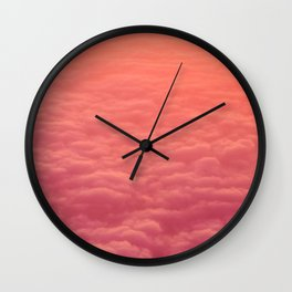 Red Clouds Wall Clock