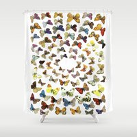 butterflies Shower Curtains featuring Butterflies by Ben Giles