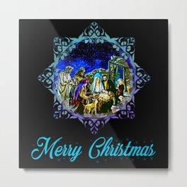 Baby Jesus Merry Christmas Metal Print