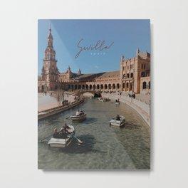 Plaza De España Sevilla Travel Print Metal Print