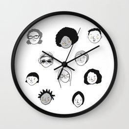 Women's faces Wall Clock
