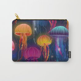 Rainbow Jellyfish Carry-All Pouch