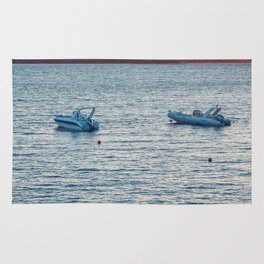 Two boats Rug
