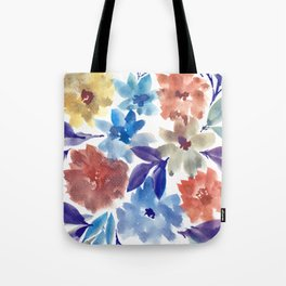 hand painted flowers_3c Tote Bag