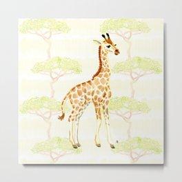 Baby Giraffe Metal Print