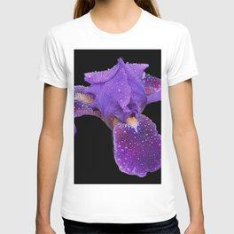 Iris on Black T-shirt
