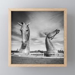 'The Kelpies' by Andy Scott Framed Mini Art Print