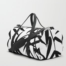 Black and White Watercolor Bamboo Seamless Pattern Duffle Bag