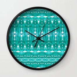 Aqua pattern Wall Clock