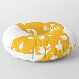 Orange cat illustration, cat pattern Floor Pillow