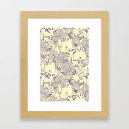 just goats purple cream Framed Art Print