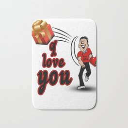 valentine day funny take your T-shirt gift dont complain Bath Mat