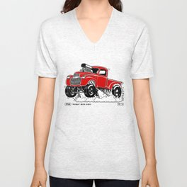 1946 Chevy Pick-up – RED Unisex V-Neck