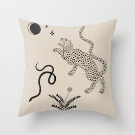 Desert Prey Throw Pillow