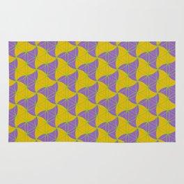 Trinity Pattern Yellow Purple Rug