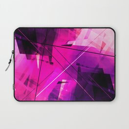 Rebellious Reflections - Geometric Abstract Art Laptop Sleeve
