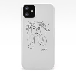 Picasso lady  Modern Sketch Picasso Art Modern Minimalist iPhone Case