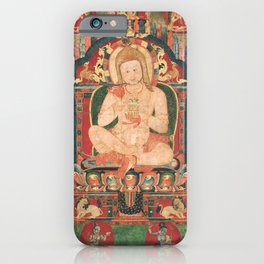 Portrait of Jnanatapa Attended by Lamas and Mahasiddhas 14th Century iPhone Case