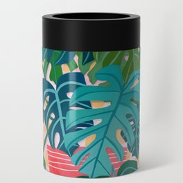 Split Leaf Philodendron Houseplant Painting Can Cooler