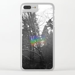 Frosted Rainbow Clear iPhone Case
