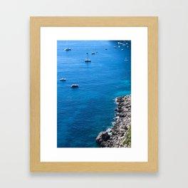 Smooth Sailing in Capri Framed Art Print