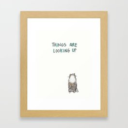 Optimisticat Framed Art Print