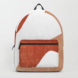 Terracotta Art Print 7 - Terracotta Abstract - Modern, Minimal, Contemporary Print - Burnt Orange Backpack