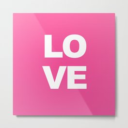 LOVE Pink Pring Decor Metal Print