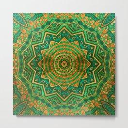 Jade Mandala Metal Print