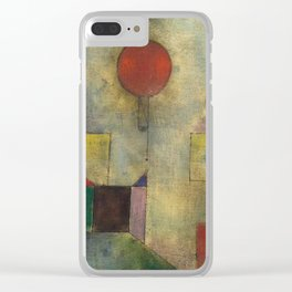 Red Balloon by Paul Klee Clear iPhone Case