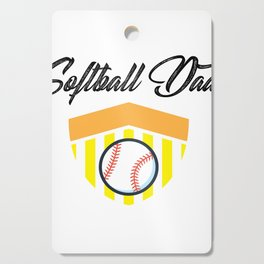 Softball And Dad For Men - Fathers Day Gifts Cutting Board