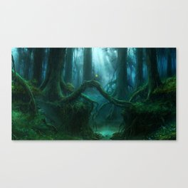 Awesome Ancient Enchanted Fairytale Timberland Creek Dreamy UHD Canvas Print
