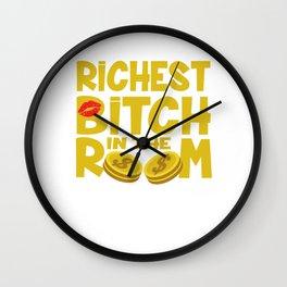 rich boaster proll millionaire money women gift Wall Clock
