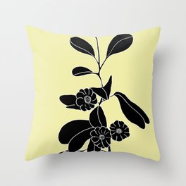 Goat's Foot (also known as Mauve Convolvulus, Beach Potato Vine, and Morning Glory) - Ipomoea pes-ca Throw Pillow